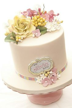 Olivia Christening by tortacouturecakes, via Flickr