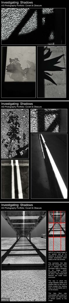 lnvestigating shadow, AS Photography, Doha College