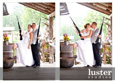 Definitely want pictures of us with our shotguns and/or rifles at our wedding! And of course whatever pair of fantastic boots I wear ;)