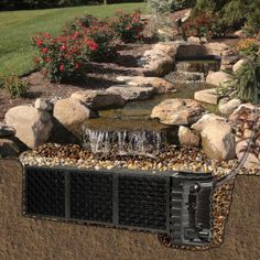 Splendid Pond Free Waterfall Oudoor Garden Design In Canada , Outdoor Landscaping Plans With Water Features And Elements Of Pondless Waterfall Design Perfect For Your Home Garden Decorating Ideas In Outdoor Category
