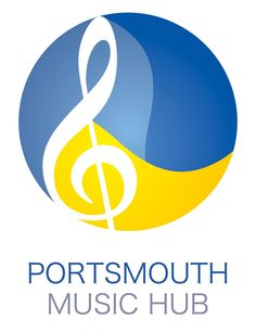 Portsmouth Music Hub  Good contrast of colours. Use of the circle to represent the hub, like the feel of the curves making it flow through the music note. Sans serif typeface, making it have a fresh feel, although would have worked better if all of the text was aligned.