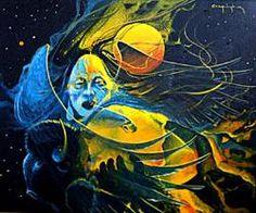 """Children of God"", Mirac Creepingbear, (1947-1990) Kiowa-Pawnee-Arapaho"
