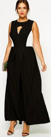 Cheap Pleat Cut-out Front Plus Size Dress online - All Products,Fashion Dresses,Plus Size Dresses Evening Dresses With Sleeves, Nice Dresses, Formal Dresses, Plus Size Long Dresses, Evening Attire, Fat Women, Elegant Woman, The Dress, Curvy Fashion