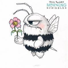 Chris Ryniak is creating Friendly Monster Drawings! Pencil Art Drawings, Cartoon Drawings, Animal Drawings, Cute Drawings, Art Sketches, Cute Monsters Drawings, Cartoon Monsters, Little Monsters, Chat Kawaii