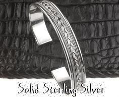 Click to view larger image Have one to sell? Sell it yourself SB-179 Hallmark 925 Solid Sterling Silver New Cuff Wristband Bangle Men Bracelet