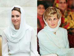 Princess Diana and Kate