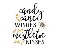 Free SVG cut file - Candy Cane Wishes