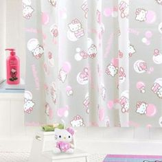 Hello Kitty: Pink Bubbles Shower Curtain