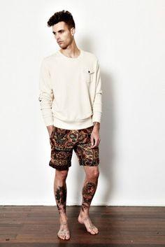 CARBONvi   Men's Fashion & Style: Vanishing Elephant Spring 2011 Tapestry Shorts
