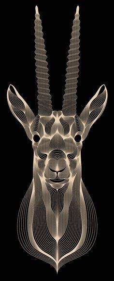 Hypnotic Digital Lines Portraits-14