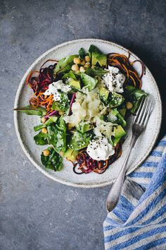 roasted rainbow root noodles