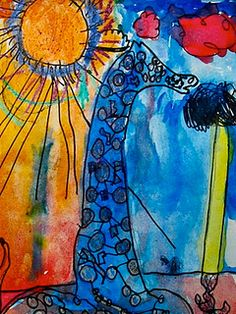 Elementary art website.  Teacher describes very nifty projects - multiple grades.