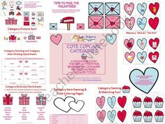 Cute Cupcake Categories product from Twin-Sisters-Speech on TeachersNotebook.com