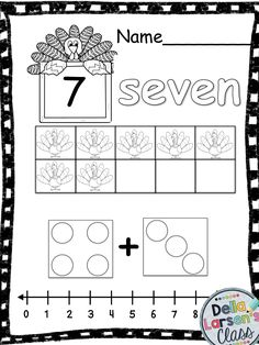 Thanksgiving Turkey Ten Frames. Fun no prep worksheets for building number sense. Perfect for you math centers Great counting practice using ten frames with Bonus counting book.