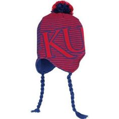 92893f0e088 Kansas Jayhawks knit tassel winter hat Adidas NWT NCAA KU Rock Chalk Big 12   KansasJayhawks