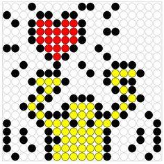 Kralenplank thema kunst. Keith Haring kon het, de kleuters kunnen het ook!
