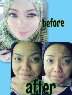 beb zaidah makeup..old age makeup