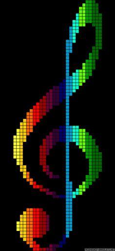 Rainbow clef perler bead pattern More
