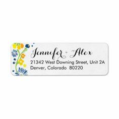 Rustic Floral Wedding Return Address Label