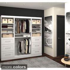 Shop Estate By Rsi 9 5 Ft X 3 Ft White Wood Closet Kit At