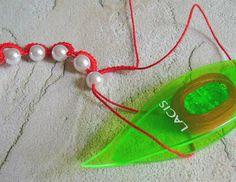 Yarnplayer's Tatting Blog: String of beaded mock rings, part 1