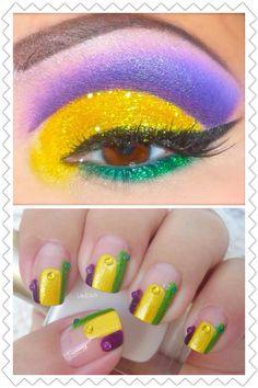 Artistic eye makeup