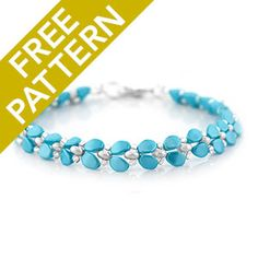 A Pinch of Elegance Bracelet Pattern for CzechMates   Fusion Beads