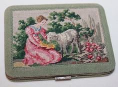 Vintage Petit Point Compact Made In Austria Beautiful | eBay