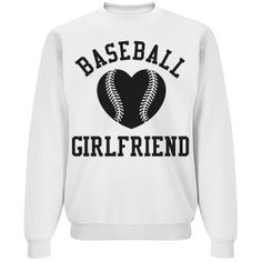 Trendy baseball girlfriend sweater for the next game.