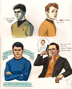 Sulu + Chekhov + Bones + Scotty