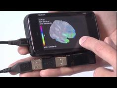 """By hooking up a commercially available EEG headset to a Nokia N900 smartphone, Jakob Eg Larsen and colleagues at the Technical University of Denmark in Kongens Lyngby have created a portable system to monitor neural activity of the brain."""