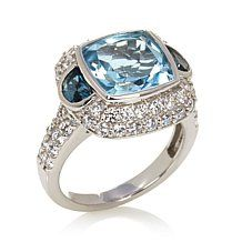 Jean Dousset 6.67ct Absolute™ and Topaz Framed Ring