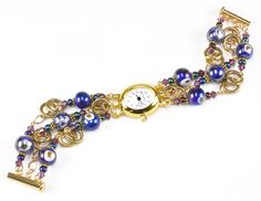 Jewelry Making Idea: Dazzled Floating Ring 3 Strand Watch Bracelet