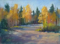 Painting My World: Aspen Series Part 3 ...A Softer Approach To Painting Trees