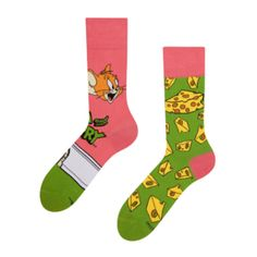 Tom and Jerry ™ Regular Socks Cheese Good Mood, Gift For Lover, Socks, Cheese, Lady, Design, Hosiery, Stockings, Design Comics