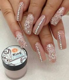 Pretty nails nails nails, acrylic nails и pink nails Sexy Nails, Fancy Nails, Bling Nails, Love Nails, Fabulous Nails, Gorgeous Nails, Pretty Nails, 3d Acrylic Nails, 3d Nails