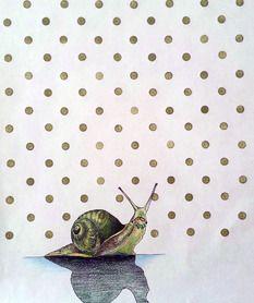 Oscar the Snail Snails, Prismacolor, Doodles, Sketch, Journal, Friends, Drawings, Illustration, Painting
