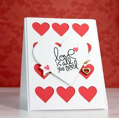 Card by PS GDT Tyra Babington using the PS Sweet Heart stamp set