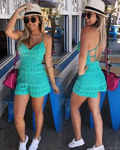 Captivating Crochet a Bodycon Dress Top Ideas. Dazzling Crochet a Bodycon Dress Top Ideas. Crochet Romper, Débardeurs Au Crochet, Crochet Pants, Mode Crochet, Crochet Clothes, Crochet Bikini, Crochet Jumpsuits, Rompers, Casual Outfits