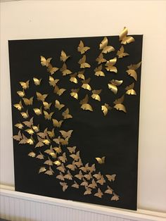 How to Make Paper Butterfly Origami Crafts 2019 gold butterfly art The post How to Make Paper Butterfly Origami Crafts 2019 appeared first on Paper ideas. painting easy canvas How to Make Paper Butterfly Origami Crafts – 2019 - Paper ideas Paper Butterfly Crafts, Origami Butterfly, Butterfly Wall Art, Paper Butterflies, Butterfly Mobile, Butterfly Painting, Art Diy, Diy Wall Art, Origami Diy