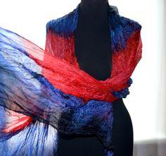 silk scarves hand dyed silk scarf silk scarf blue by batikelena