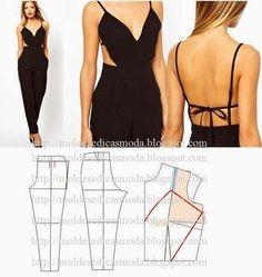 Ideas para el hogar: Costura enterito de vestir con interesante corte s...