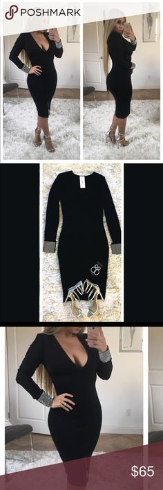 ✨ Black Bodycon Rhinestone Cuff Dress 😍✨ Brand New! Never been worn with Tags Dress! Body fitting, a beautiful Show Stopper  Tags: Birthday Dress, New Year's Dress, Wedding, Cocktail Dress, Special Event Dress  🔸PRICE IS FIRM- already listed at lowest price  🔸If you want to save please look into bundling  🔸In Stock 🔸No Trades & NO HOLDS  🔸Will ship within 24- 48 hours Monday-Friday  🚫Please -NO- Offers on items priced $10 and under AND ON SALE ITEMS‼️   🔹Bundle one or more items from…