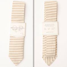 Skinny Handmade Necktie with Earth Tone Stripes.