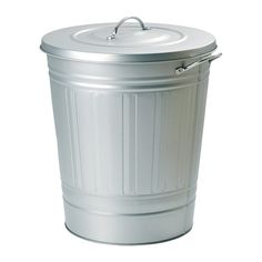 KNODD Bin with lid IKEA Easy to fill up and empty as you can secure the lid on the edge of the bin.
