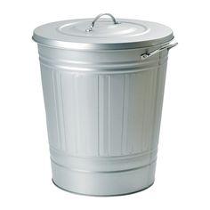 KNODD Poubelle IKEA Facile de remplir et vider car le couvercle s'accroche au bord de la poubelle.