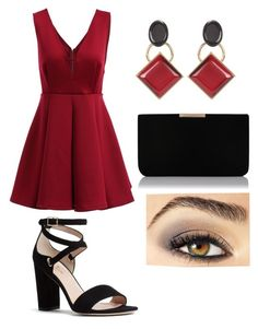 """""""lady in red"""" by ultraredviolet ❤ liked on Polyvore featuring Kate Spade, Marni, L.K.Bennett and Avon"""