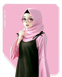 The scarf is a vital portion from the clothes of girls having hijab. Because it is central to the accessory t Hijabi Girl, Girl Hijab, Hijab Drawing, Islamic Cartoon, Girly Drawings, Art Drawings, Hijab Cartoon, Islamic Girl, Street Hijab Fashion