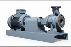 Industrial pump 3D - KSB-SPX Etanorm 65-40-250 - 180M e-motor - Other, STEP / IGES, SOLIDWORKS - 3D CAD model - GrabCAD