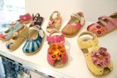 Colourful footwear at the June 11 show